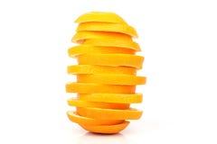 Skivor av orangen Arkivbilder