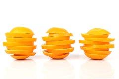 Skivor av orangen Arkivbild