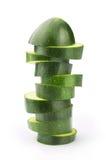 Skivor av zucchinien Fotografering för Bildbyråer