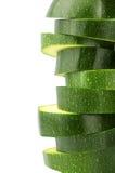 Skivor av zucchinien Royaltyfri Foto