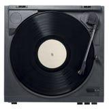 Skivspelare med vinylrekordet Arkivbild