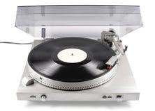 Skivtallrik ljudsignal, för playback av vinylrekord, från 80-tal av det sista århundradet Arkivfoto