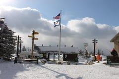 Skizeit Stockbild