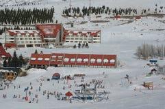 Skizeit Stockfoto
