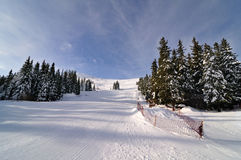 Skizone Vitosha, Bulgarien Stockbild