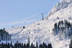Skizone Vitosha, Bulgarien Stockfotos