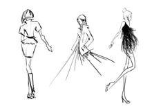 skizze Art und Weisemädchen Stockfoto