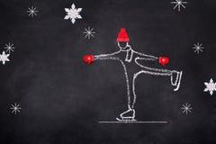 Skizze der Kindereislaufhand gezeichnet Lizenzfreie Stockbilder
