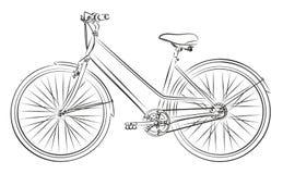 Skizze des alten Fahrrades Stockfotos