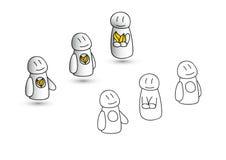 Skizze des Charakters 3d Stockbild