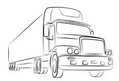 Skizze des großen LKWs Lizenzfreie Stockbilder