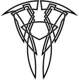 Skizze des keltischen Knotens Stockbilder