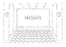 Skizze des Kinos Hall Lizenzfreie Stockbilder