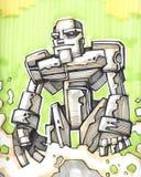 Skizze des Roboters c Stockbilder