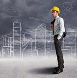 Skizze eines Architekten Lizenzfreies Stockbild