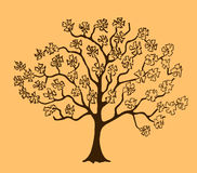 Skizze eines blühenden Baums vektor abbildung