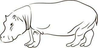Skizze eines Karikaturungetüms Lizenzfreie Stockfotos