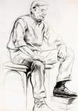 Skizze eines Mannes Lizenzfreie Stockbilder
