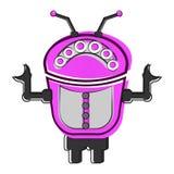 Skizze eines netten Roboters Lizenzfreies Stockfoto