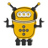 Skizze eines netten Roboters Stockfoto