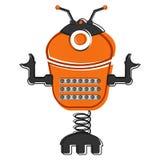 Skizze eines netten Roboters Stockfotos