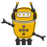 Skizze eines netten Roboters Stockfotografie
