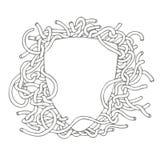 Skizze eines Schildes mit den Knoten als dem Muster lizenzfreie abbildung
