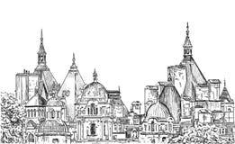 Skizze von London Stockfotos