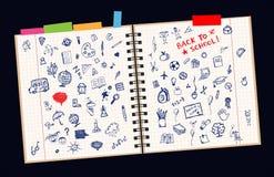 Skizzen auf Seite, Konzept der Schule Stockfotografie