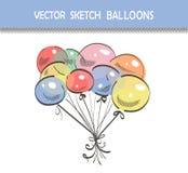 Skizzen-Ballone lizenzfreie abbildung