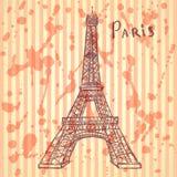 Skizzen-Eiffelturm, Vektorhintergrund ENV 10 Lizenzfreie Stockbilder
