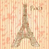 Skizzen-Eiffelturm, Vektorhintergrund ENV 10 Stockfotografie