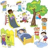 Skizzen von boys_series2 Lizenzfreie Stockfotografie