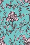 Skizzenblumenmuster stock abbildung