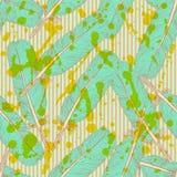 Skizzenfeder, nahtloses Muster der Weinlese Stockfotografie