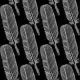 Skizzenfeder, nahtloses Muster der Weinlese Stockbild