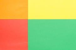 Skizzenpapier vereinbart in den Rechtecken Stockfotografie