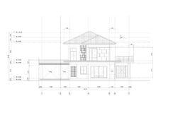 Skizzenzeichnung von Gebäude Architektur Stockbilder