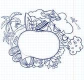 Skizzespracheluftblase Stockfoto