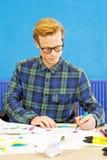 Skizzieren des Designers Stockbild