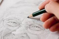 Skizzieren einer älteren Dame Lizenzfreies Stockbild