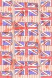 Skizzieren Sie Flagge von Großbritannien, nahtloses Muster des Vektors Lizenzfreie Stockfotos