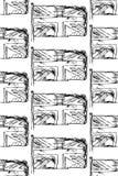 Skizzieren Sie Flagge von Großbritannien, nahtloses Muster des Vektors Stockbilder