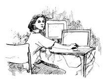 Skizzieren Sie Hintergrund Lizenzfreie Stockfotografie