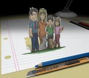 Skizzieren Sie Ihr Traum (Familie) Stockbilder