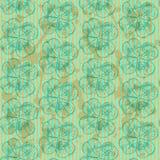 Skizzieren Sie Klee, nahtloses Muster des Vektors, St- Patricktag-symbo Lizenzfreie Stockfotografie
