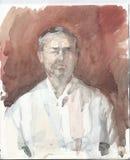Skizzieren Sie Porträt eines Mannes - coloristic Suche Stockfoto