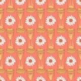 Skizzieren Sie Sanduhr, nahtloses Muster der Vektorweinlese Lizenzfreies Stockfoto