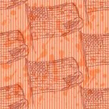 Skizzieren Sie Sanduhr, nahtloses Muster der Vektorweinlese Lizenzfreie Stockfotos