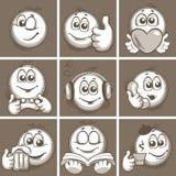 Skizzieren von Emoticon Stockfoto